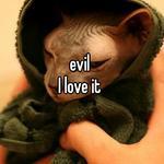 evil  I love it