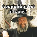 Do you play hide and seek in his beard?