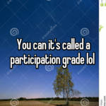 You can it's called a participation grade lol