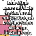 You should utilize participation points but include attitude, manners, and following directions. You could count it as a test grade to help those students who have good behavior but teach a lesson to those that don't.