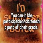 You can in the participation/citizenship part of their grade.