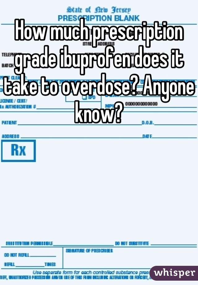 take to overdose ibuprofen much how does it