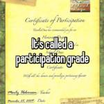 It's called a participation grade