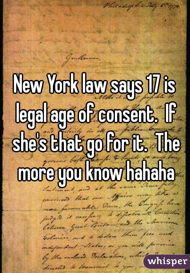 Legal age for dating in new york