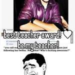 best teacher award! ♥  be my teacher!