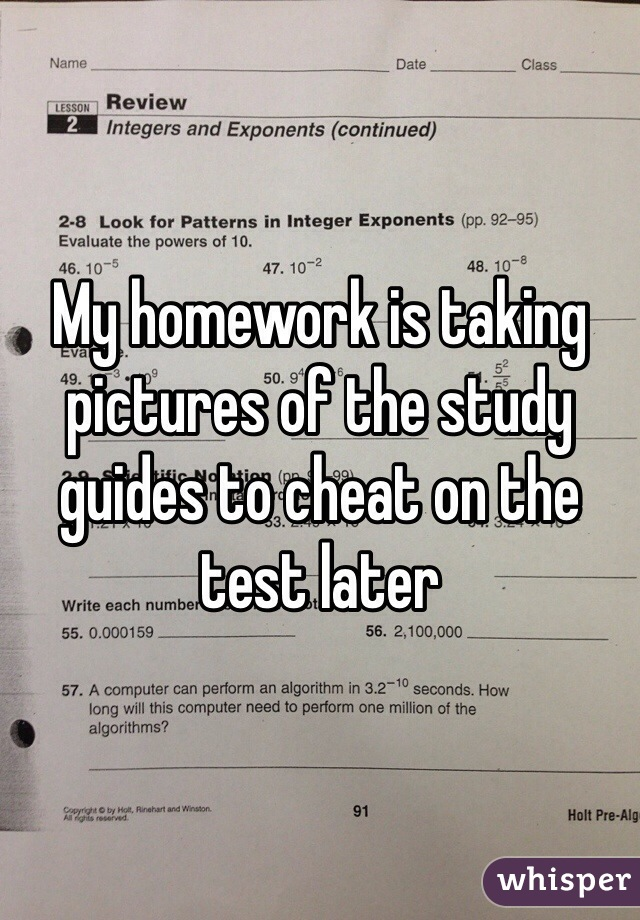 How can i cheat on my homework