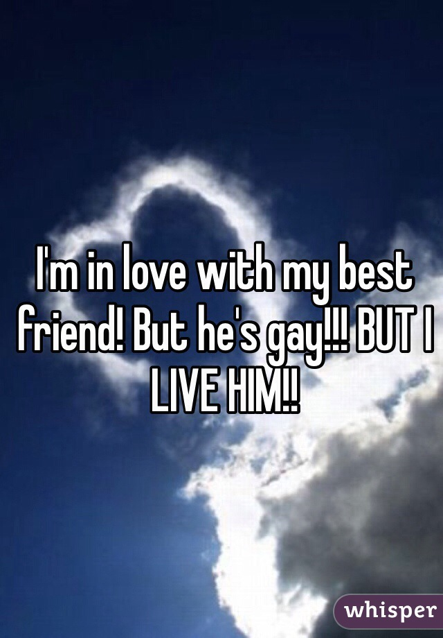 I'm in love with my best friend! But he's gay!!! BUT I LIVE HIM!!