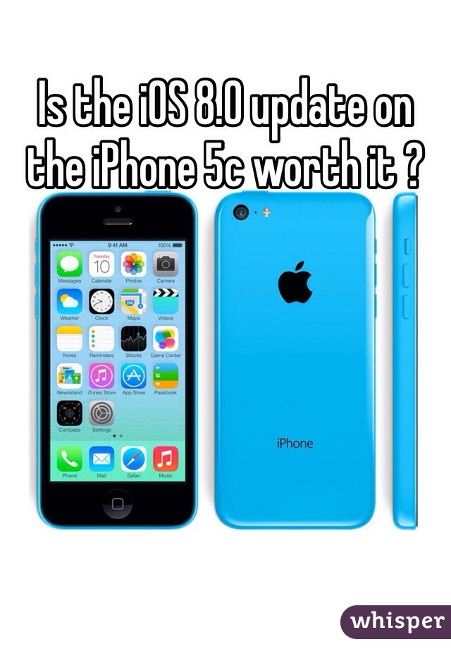 Is the iOS 8.0 update on the iPhone 5c worth it ?