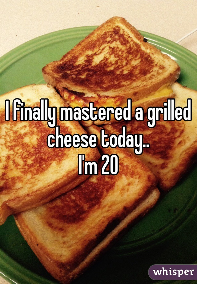 I finally mastered a grilled cheese today.. I'm 20