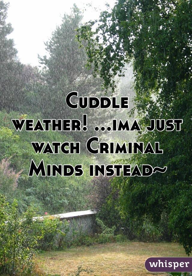 Cuddle weather! ...ima just watch Criminal Minds instead~