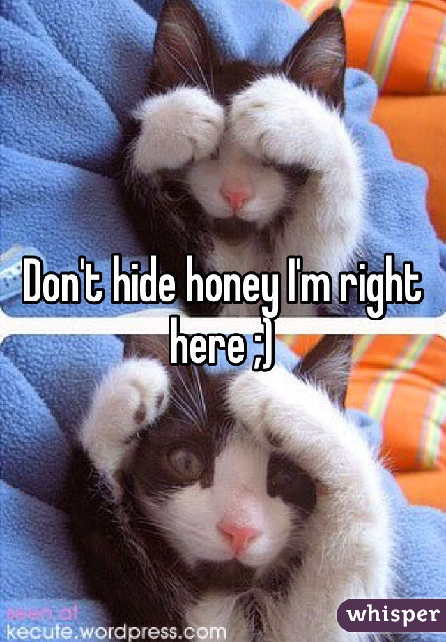 Don't hide honey I'm right here ;)