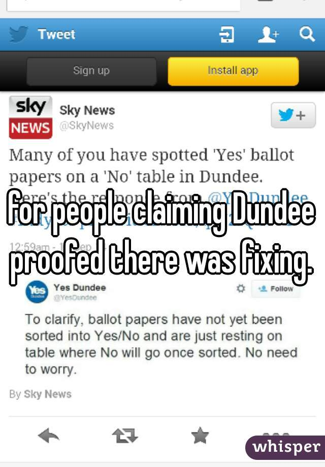 for people claiming Dundee proofed there was fixing.