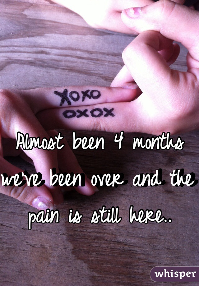 Almost been 4 months we've been over and the pain is still here..