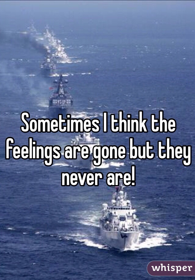 Sometimes I think the feelings are gone but they never are!
