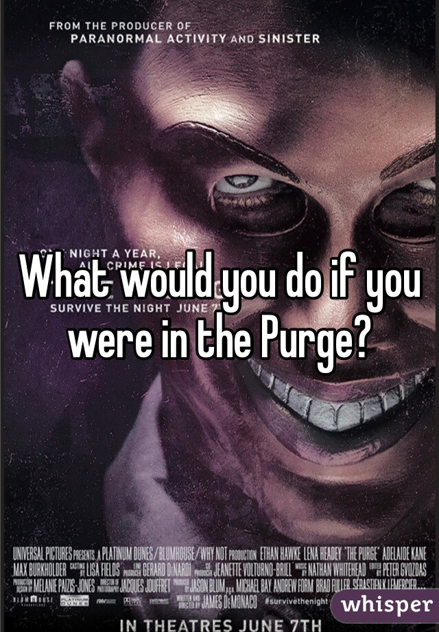 What would you do if you were in the Purge?
