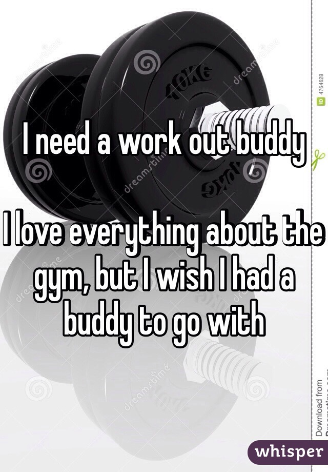 I need a work out buddy   I love everything about the gym, but I wish I had a buddy to go with
