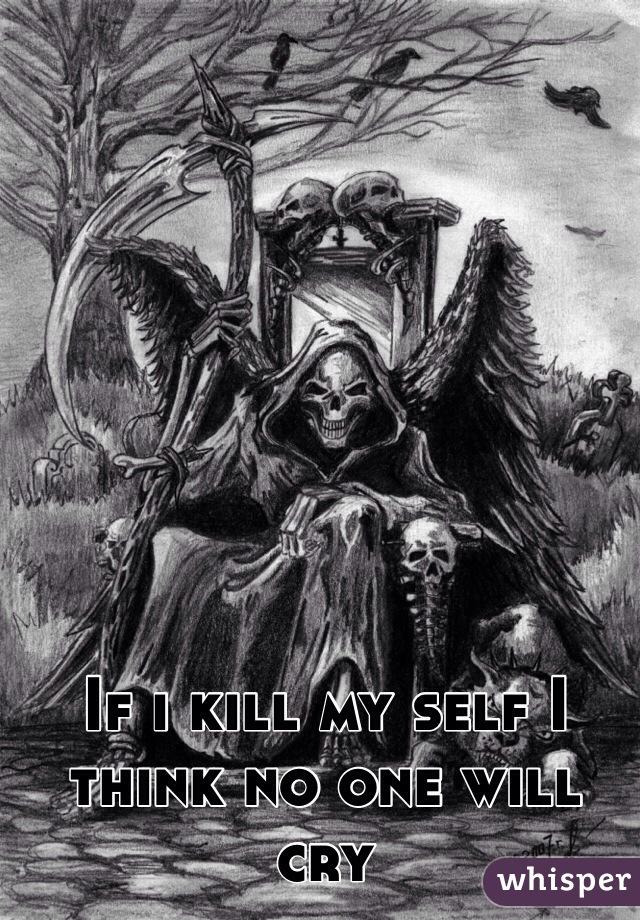 If i kill my self I think no one will cry