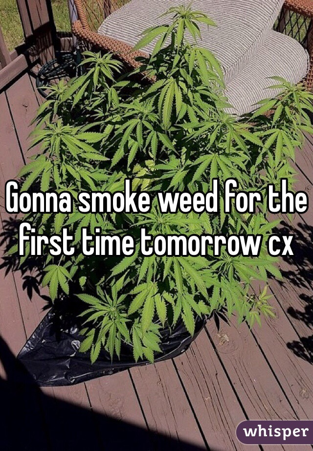 Gonna smoke weed for the first time tomorrow cx