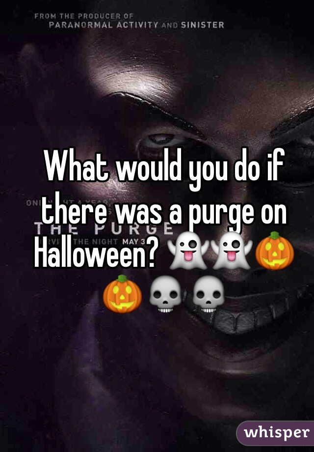 What would you do if there was a purge on Halloween? 👻👻🎃🎃💀💀