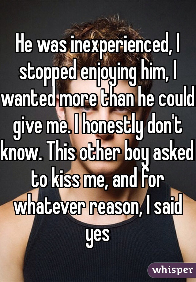 Inexperienced boy