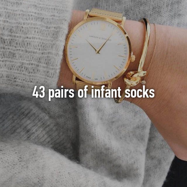43 pairs of infant socks