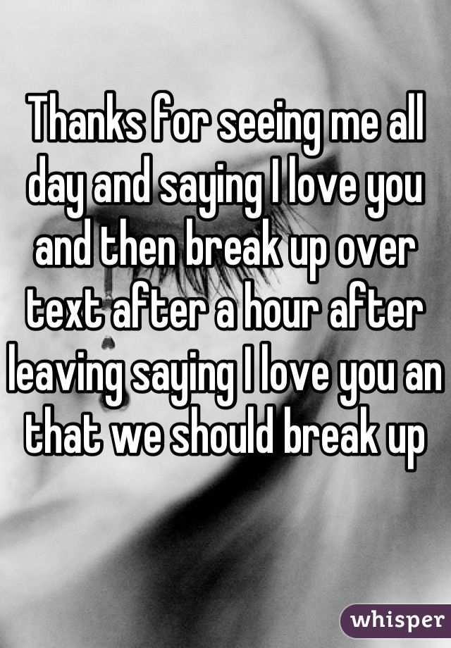 how to break up with someone you love over text
