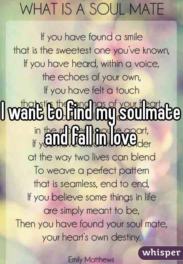 I need a soulmate