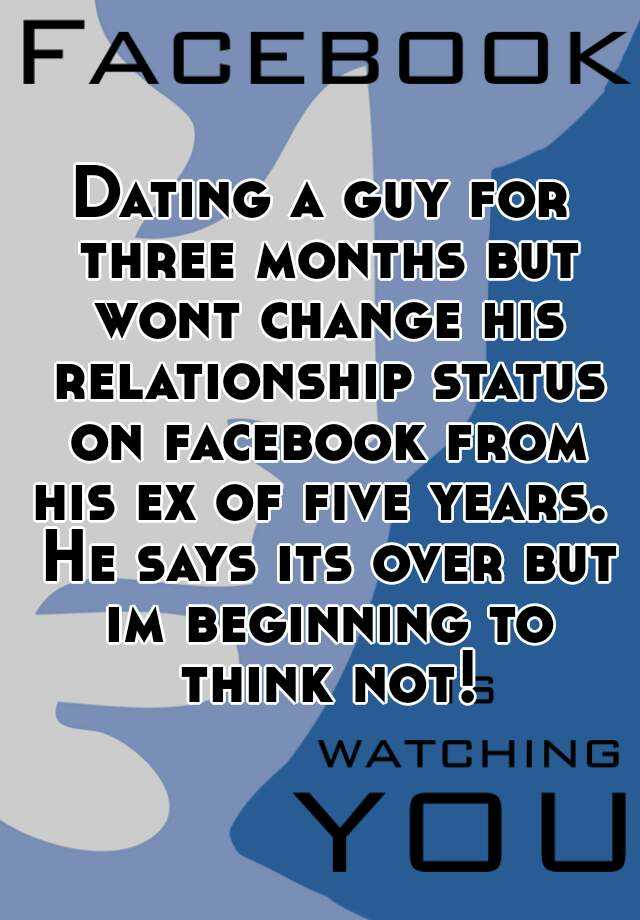 Guy dating not over ex