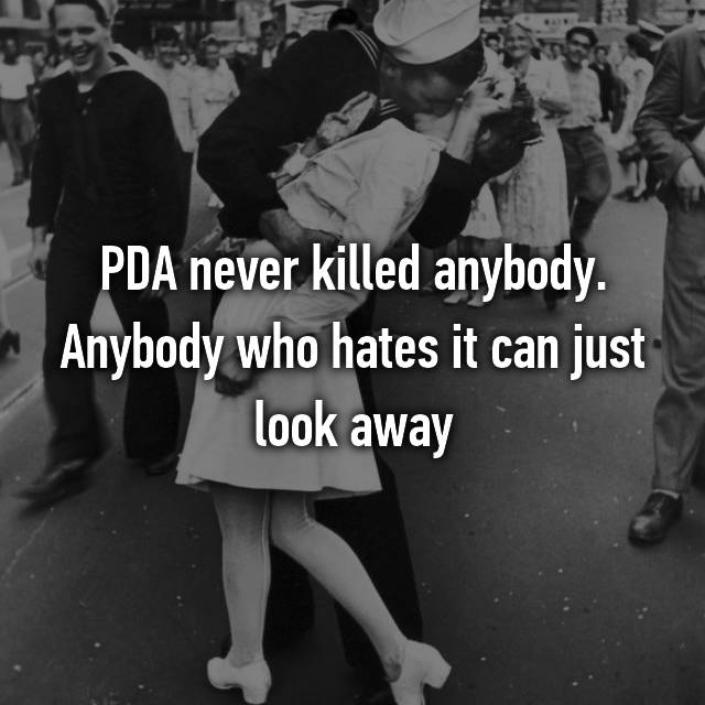 PDA never killed anybody. Anybody who hates it can just look away