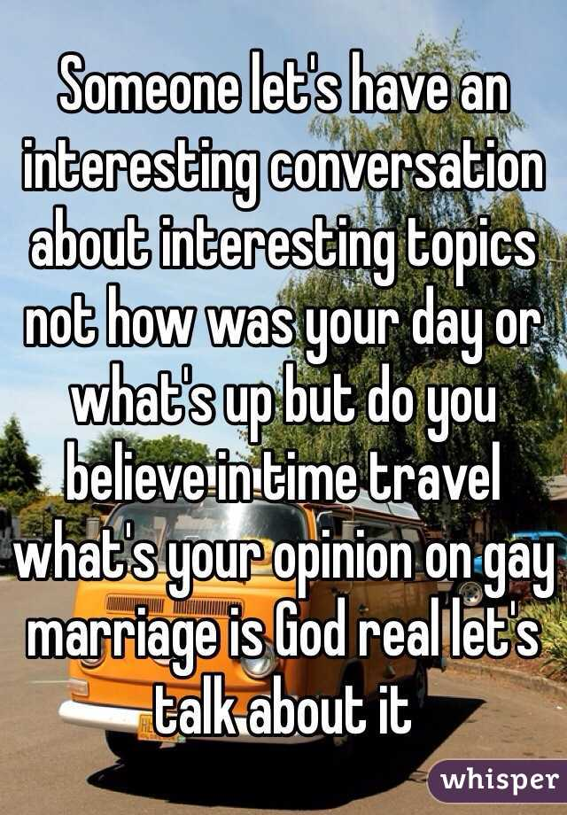 What's your opinion on gay marriage?