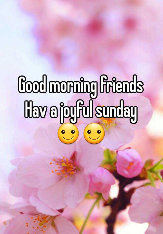 Good Morning Sunday Pick : Good morning friends hav a joyful sunday