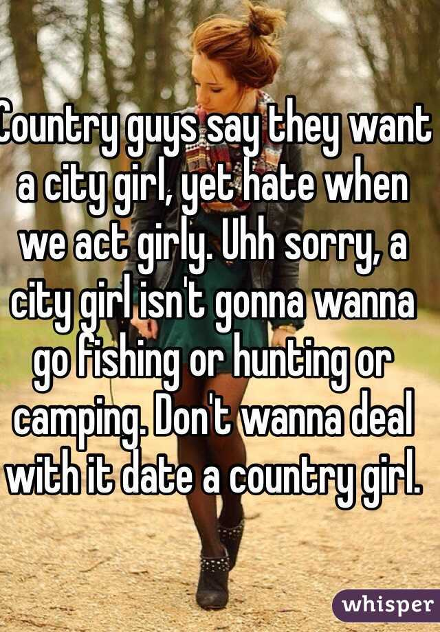 City boy dating country girl