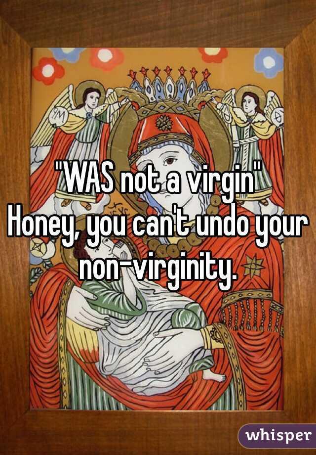 Virginity to undo