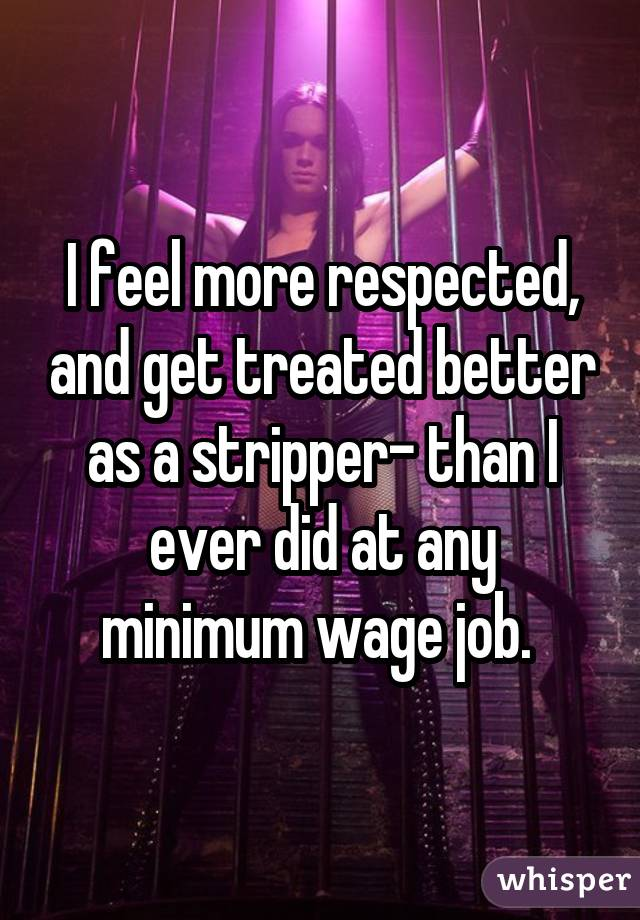 Job as a stripper