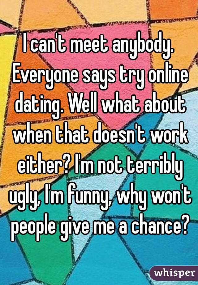 Why online dating is not working
