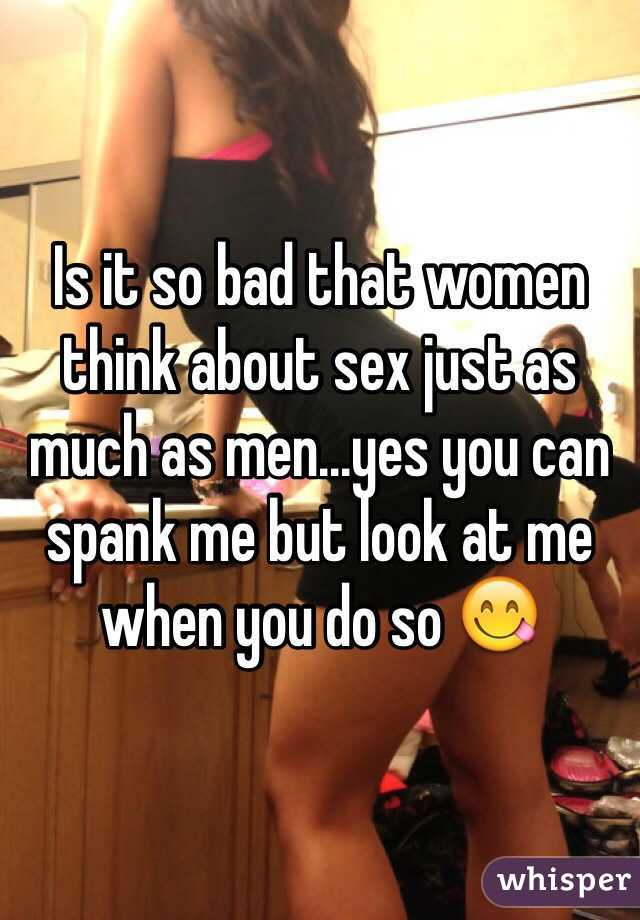 Are Do women think about sex