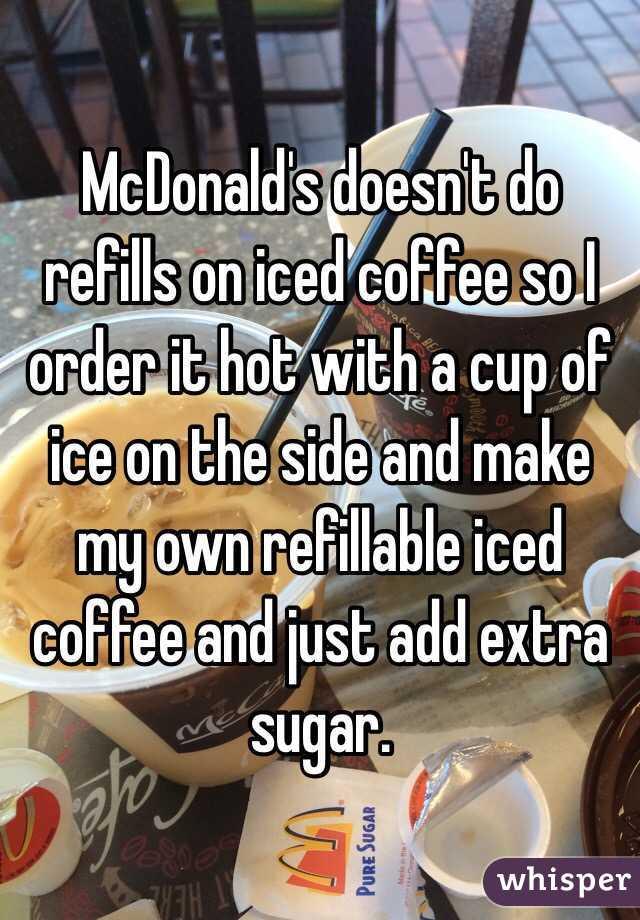 Refills On Iced Coffee