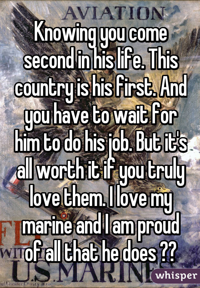 Dating someone in the marines