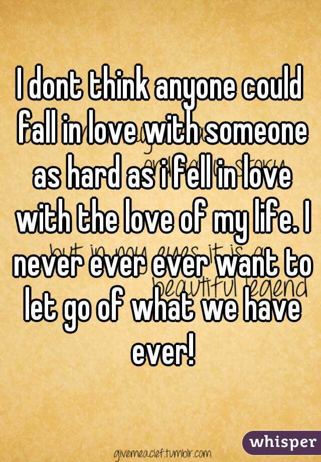 i dont think anyone could fall in love with someone as