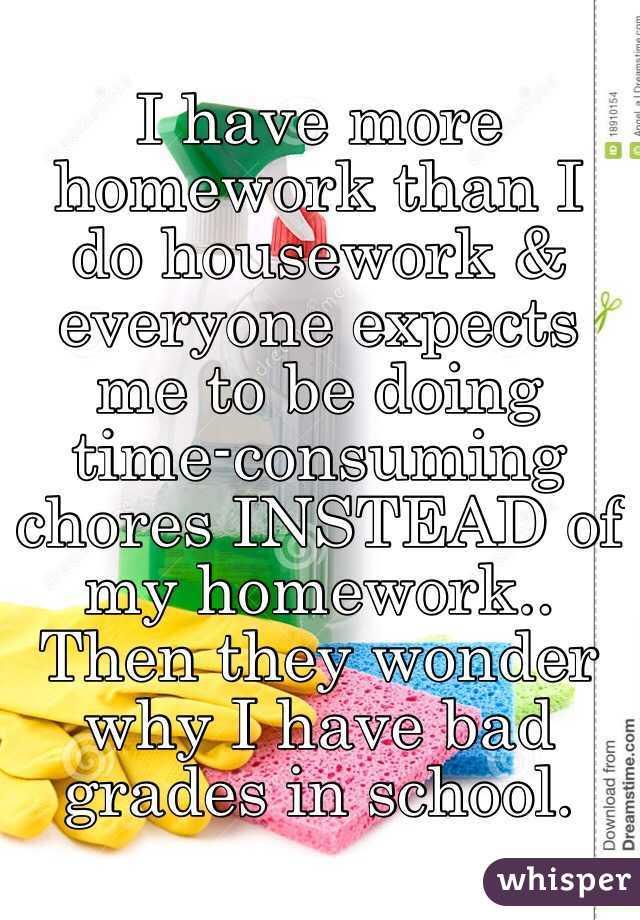Homework Do Housework