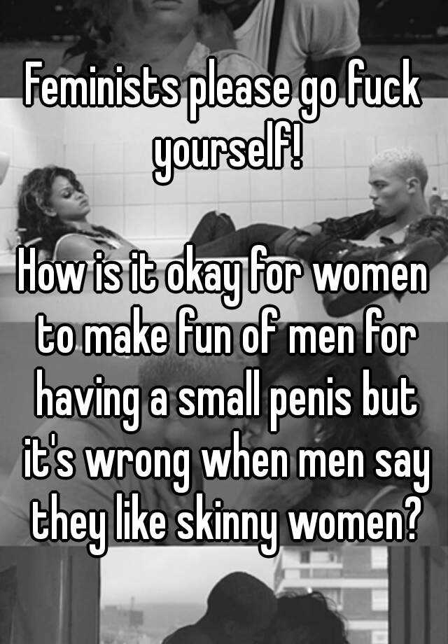 women making fun of small penis