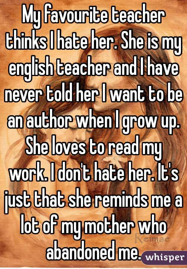 I want to be an English teacher?