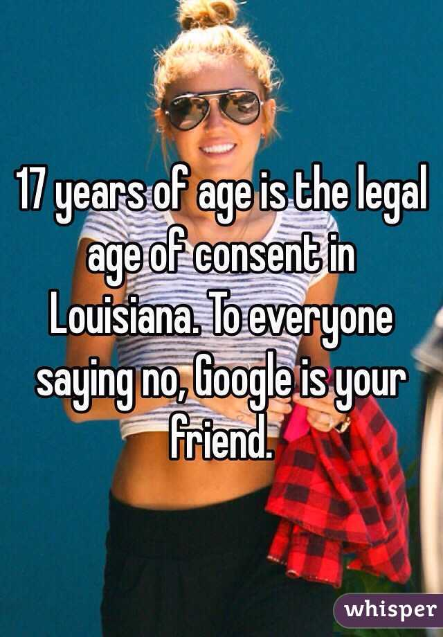 What is the legal dating age in louisiana