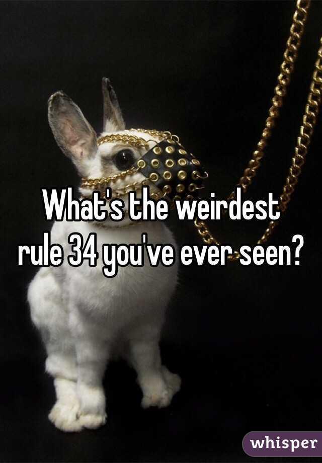 weirdest rule 34