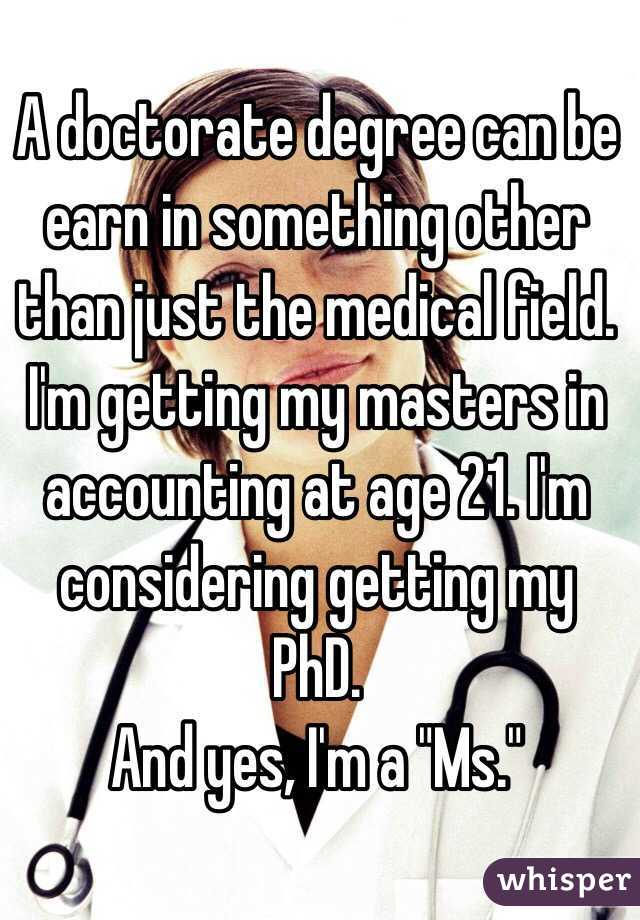 Can i get a phd in a field different from my masters degree?