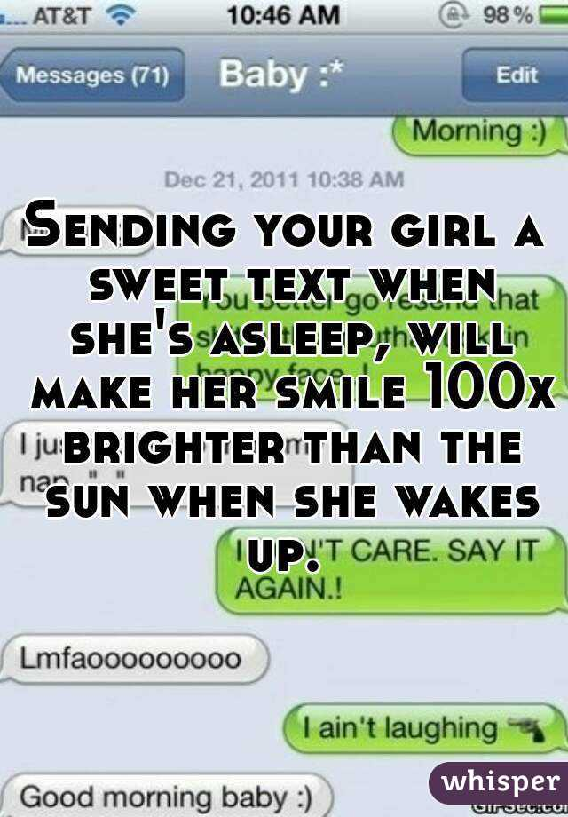 What to text a girl to make her smile