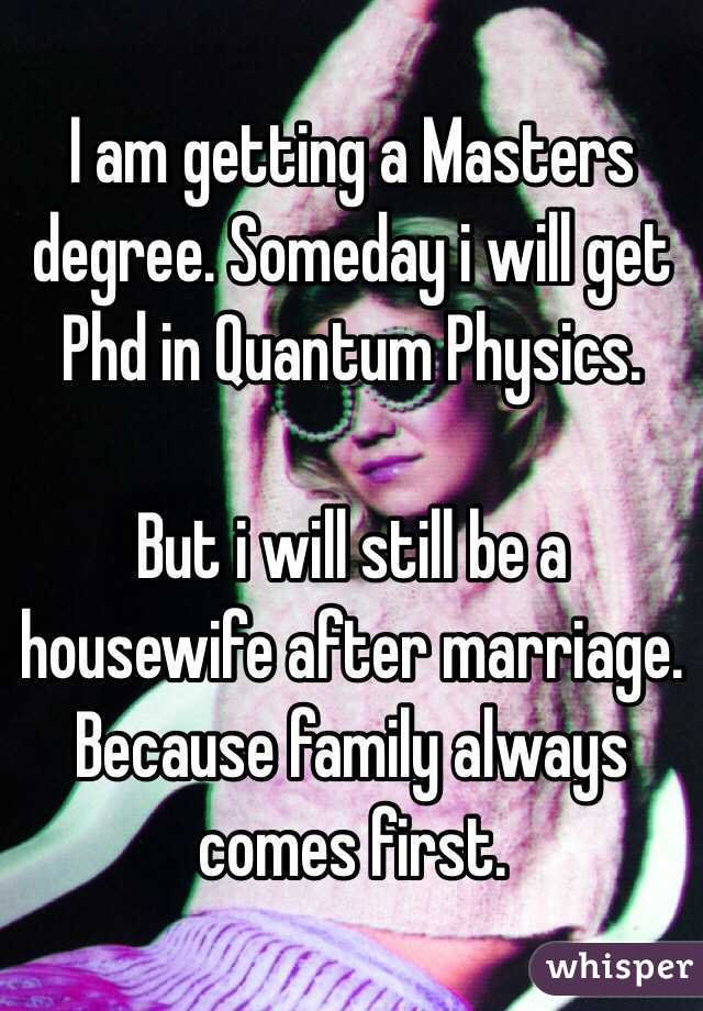 After phd degree