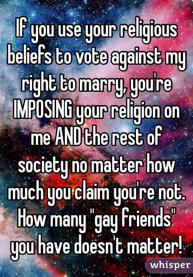 how many voted against gays