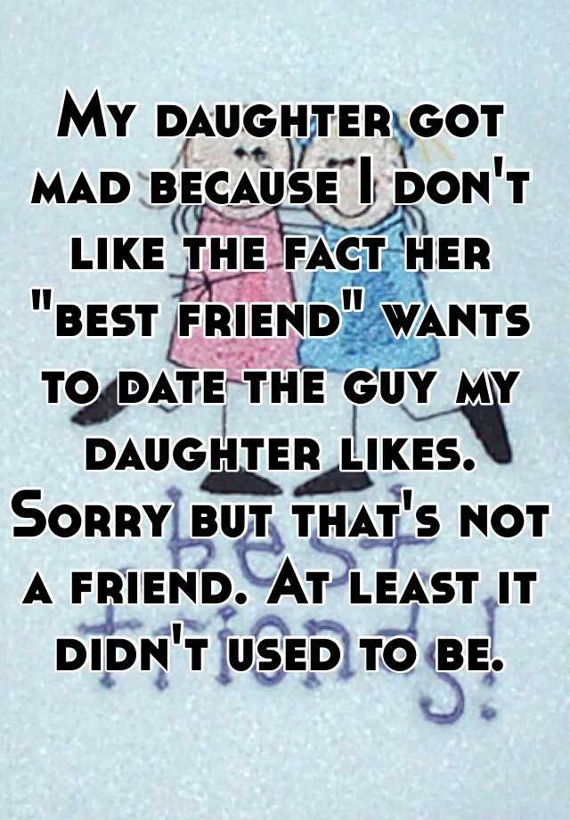 my friend is dating the guy i like I have a crush on a guy, but he likes my best friend they friend likes him too, but they aren't going out because my friend doesn't want to hurt me.