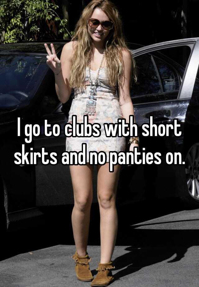 Short Skirts And No Panties 45